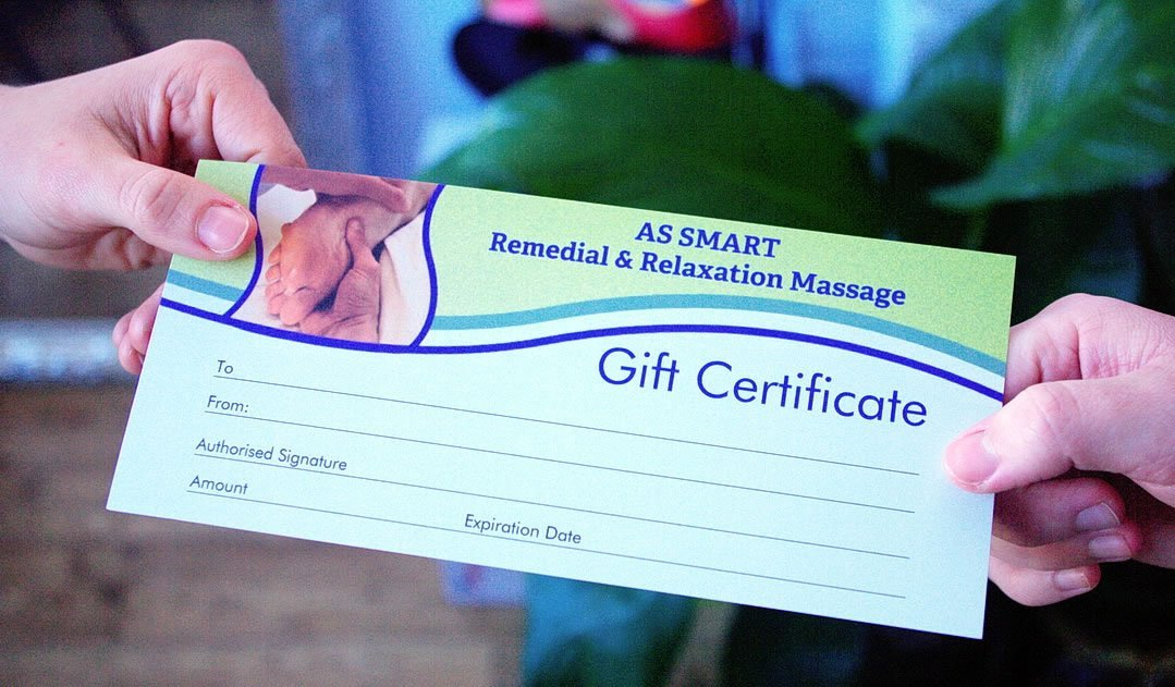 AS SMART Massage Gift Voucher